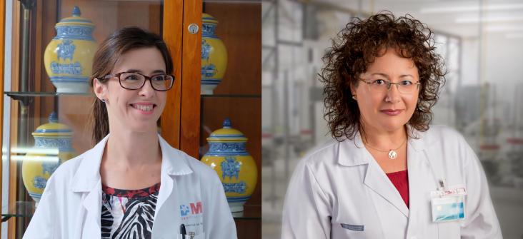 Eva González-Haba Peña (izquierda) y Ana Cristina Cercós Lletí (derecha), directoras del Máster Inmunoterapia del cáncer