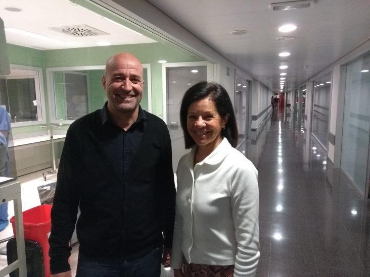 Pere Ventayol (izquierda) y Olga Delgado (derecha), Presidente y Coordinadora científica del 63 Congreso SEFH, respectivamente.