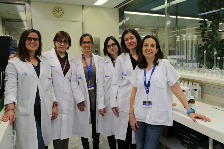 Farmacéuticas del Área Maternoinfantil del Servicio de Farmacia del Hospital Universitari Vall d'Hebron de Barcelona