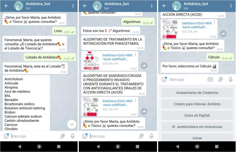 Chatbot de antídotos, una herramienta con gran potencial
