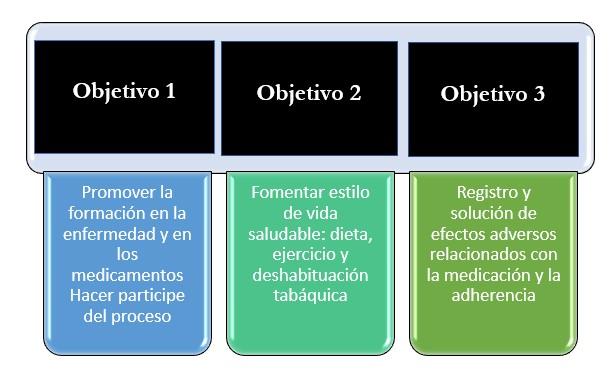 Figura 2: Diseño de los objetivos farmacoterapéuticos